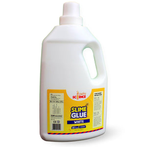 Slime and Craft White School Glue (2 Litres, Pack of 1 Bottle)