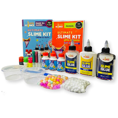 Ultimate Slime Kit for Kids Glitter, Fluffy & Unicorn and Make 20+ Slimes. Age 4 Years and Above (Multicolour)