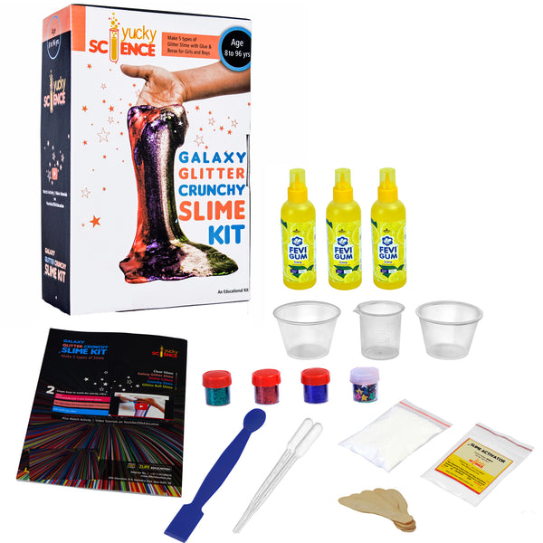 Galaxy Glitter Crunchy Slime Kit. Make 5 types of Slime