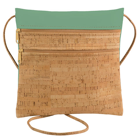 BE LIVELY 2 | Rustic Cork + Sea Green Faux Leather