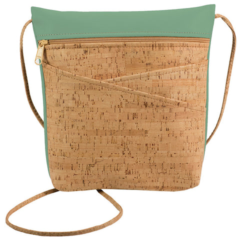 BE LIVELY 3 | Rustic Cork + Sea Green Faux Leather