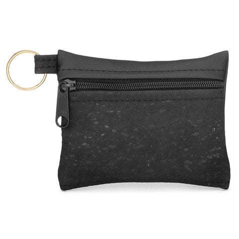 BE ORGANIZED | Key Chain | Black Cork + Faux Leather