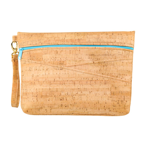 Be Ready Oversized Wristlet | Rustic Cork
