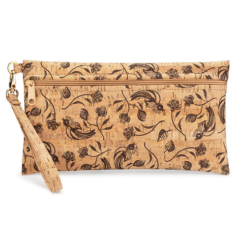 BE READY | Large Wristlet | All Brown Whistle Print
