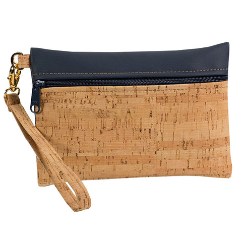BE READY | Wristlet | Rustic Cork + Faux Leather