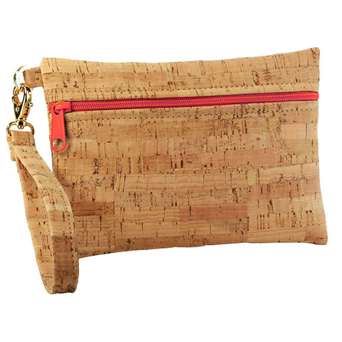 BE READY | Small Wristlet | Rustic Cork