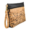 Be Ready Oversized Wristlet | Whistle Print + Faux Leather