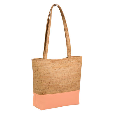 BE BASIC | Rustic Cork + Peach Faux Leather