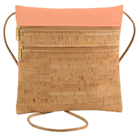 BE LIVELY 2 | Rustic Cork + Peach Faux Leather