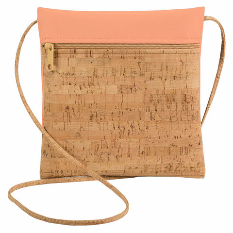 BE LIVELY | Rustic Cork + Peach Faux Leather