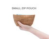 BE ORGANIZED | Small Zip Pouch | Bark Cork