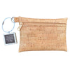 Cork Zipper Pouch + Whimsical Art Key Chain | Face Masks & Essentials Bag | Fly