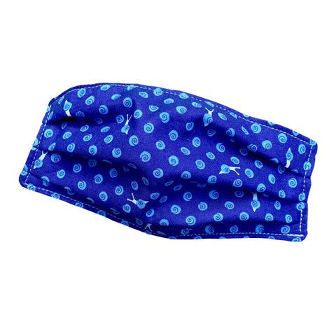 Reusable Cloth Face Mask | Organic Cotton | Blue Snails