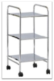 3-Tier Glass Shelf Trolley
