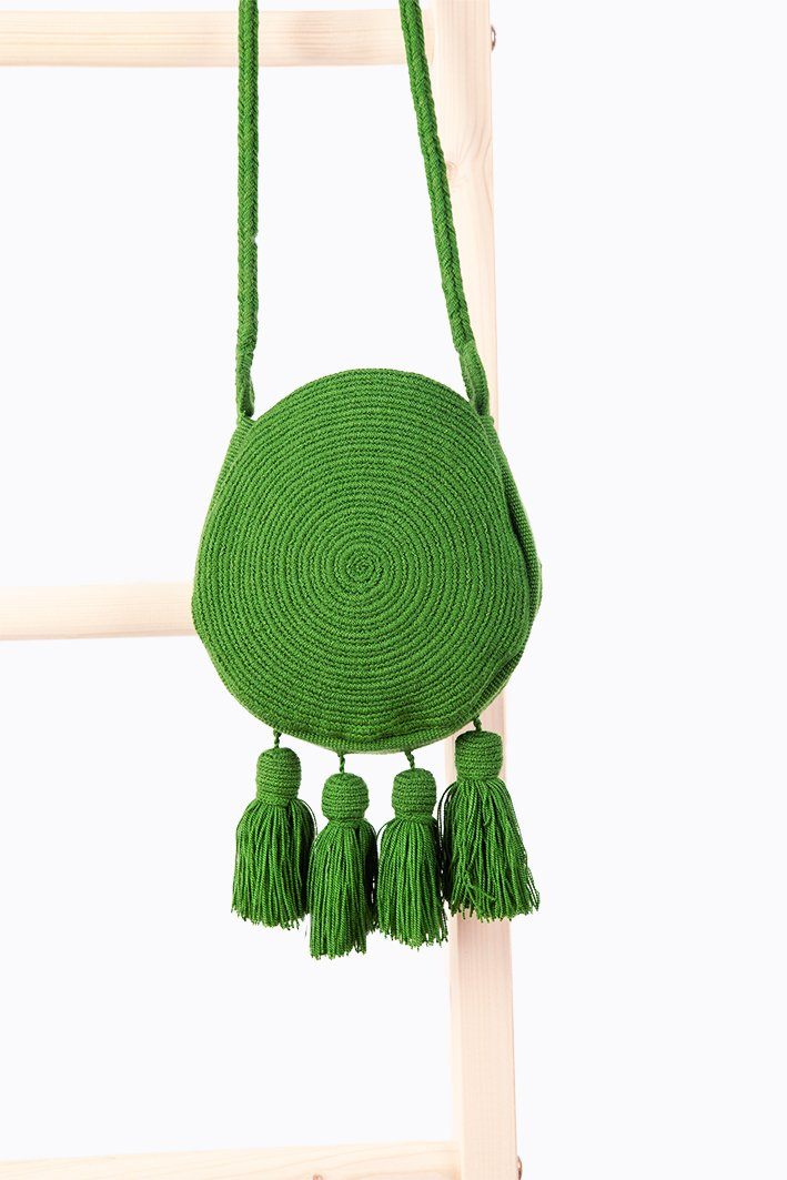 Wayuu Banjo Mini Sling - Forest Green - Our Barehands