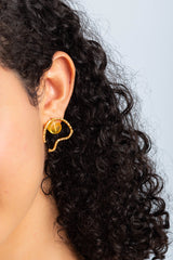 Aru Earrings - Turmeric