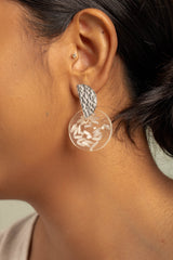 Coral Earrings - White Rice