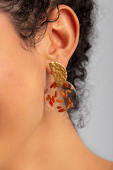 Coral Earrings - Red Rice