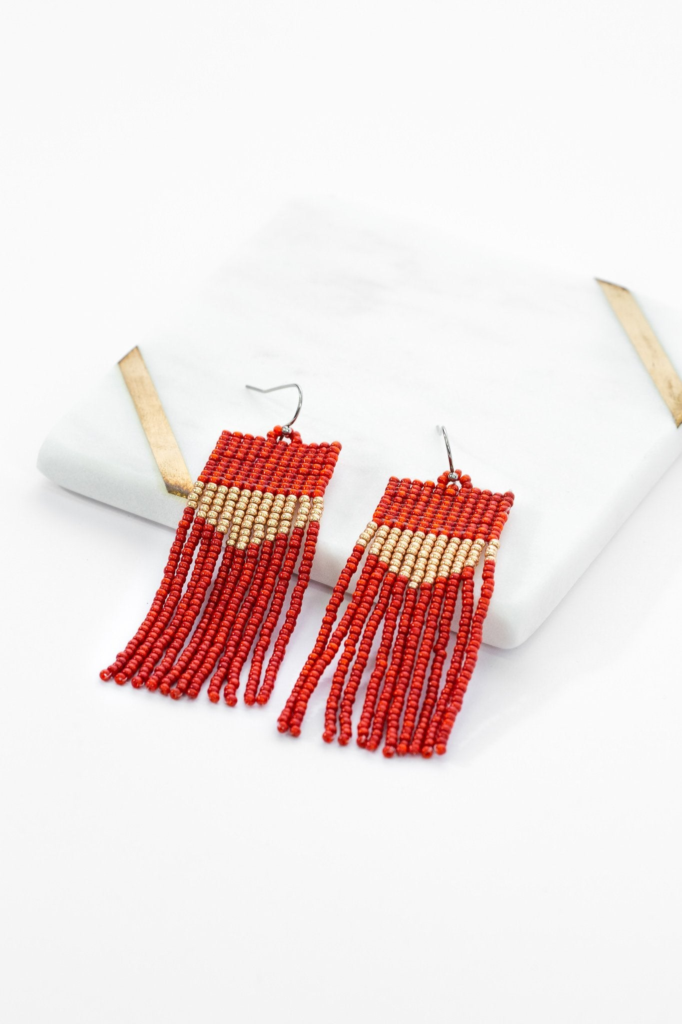 Sarita Beaded Earrings - Terracotta Dust - Our Barehands