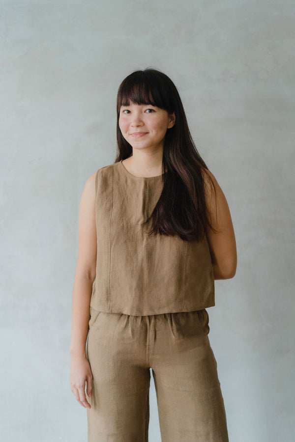 Savana Button Top