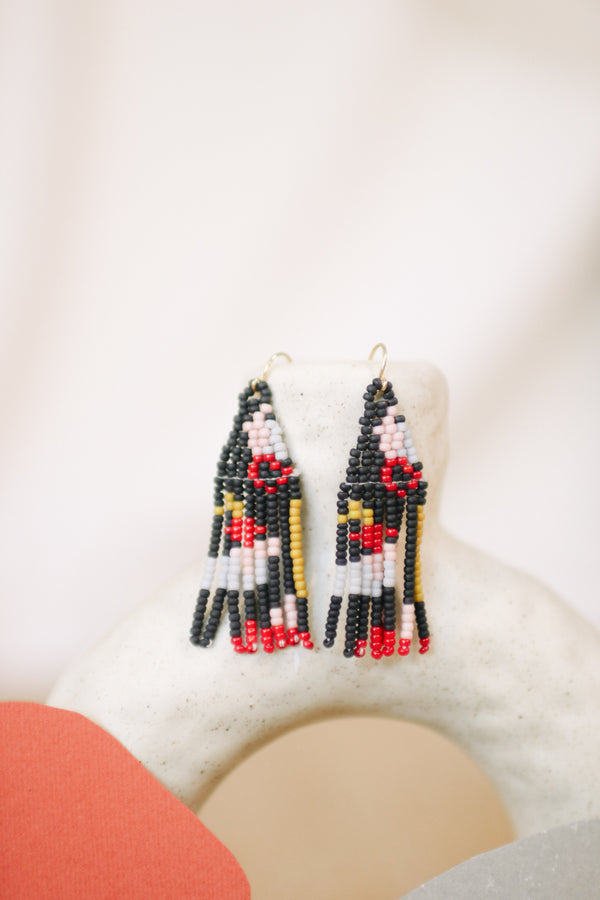Javiera Beaded Earrings - Dark