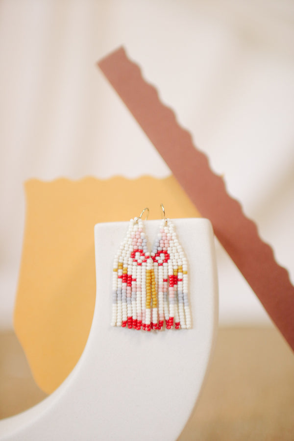 Javiera Beaded Earrings - Light