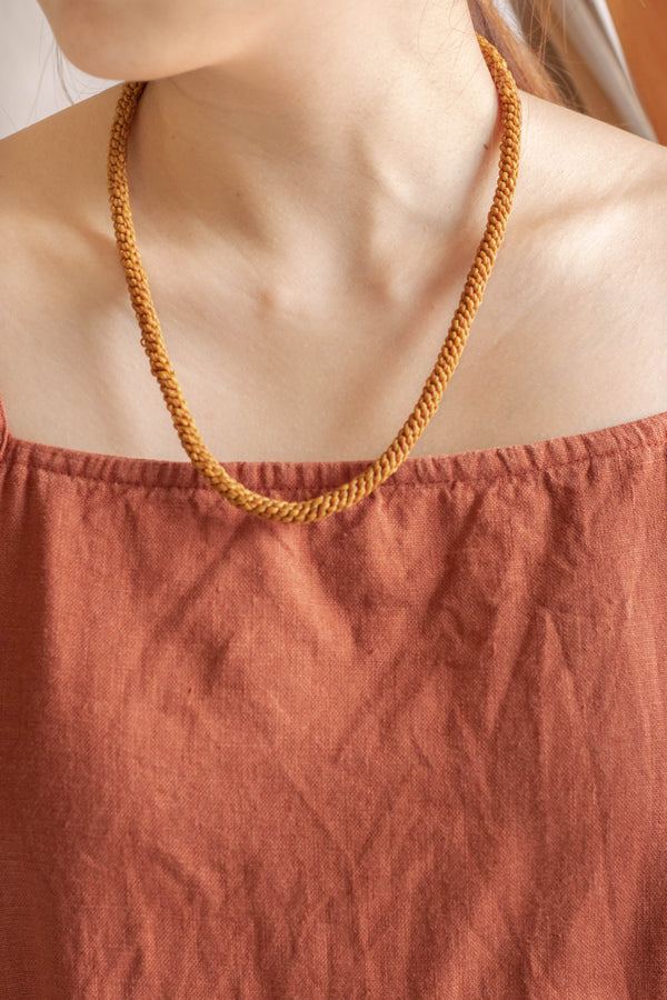 Hand-knotted Rope Necklace & Bracelet - Dijon - Our Barehands