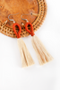 Nanda Hoop Tassel Earrings - Crimson Natural - Our Barehands