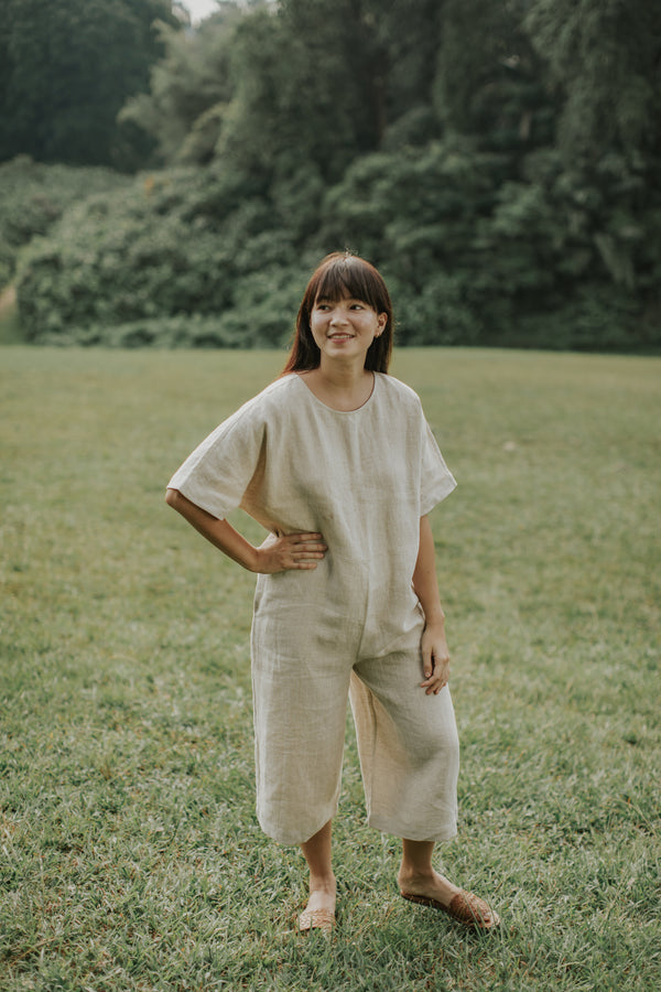 Home: Canyon Jumpsuit by Mary Lee (Natural Sand)