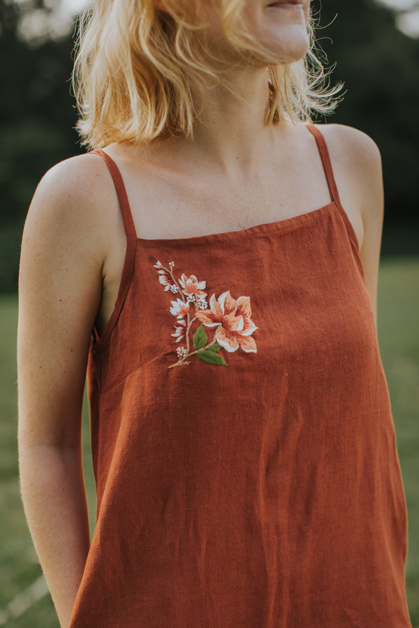 Hope: Meadow Midi Dress by Naked Works (Red Clay)