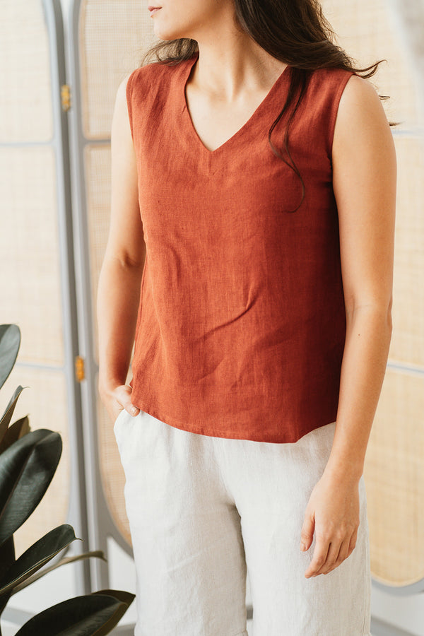 Latin V-Neck Top