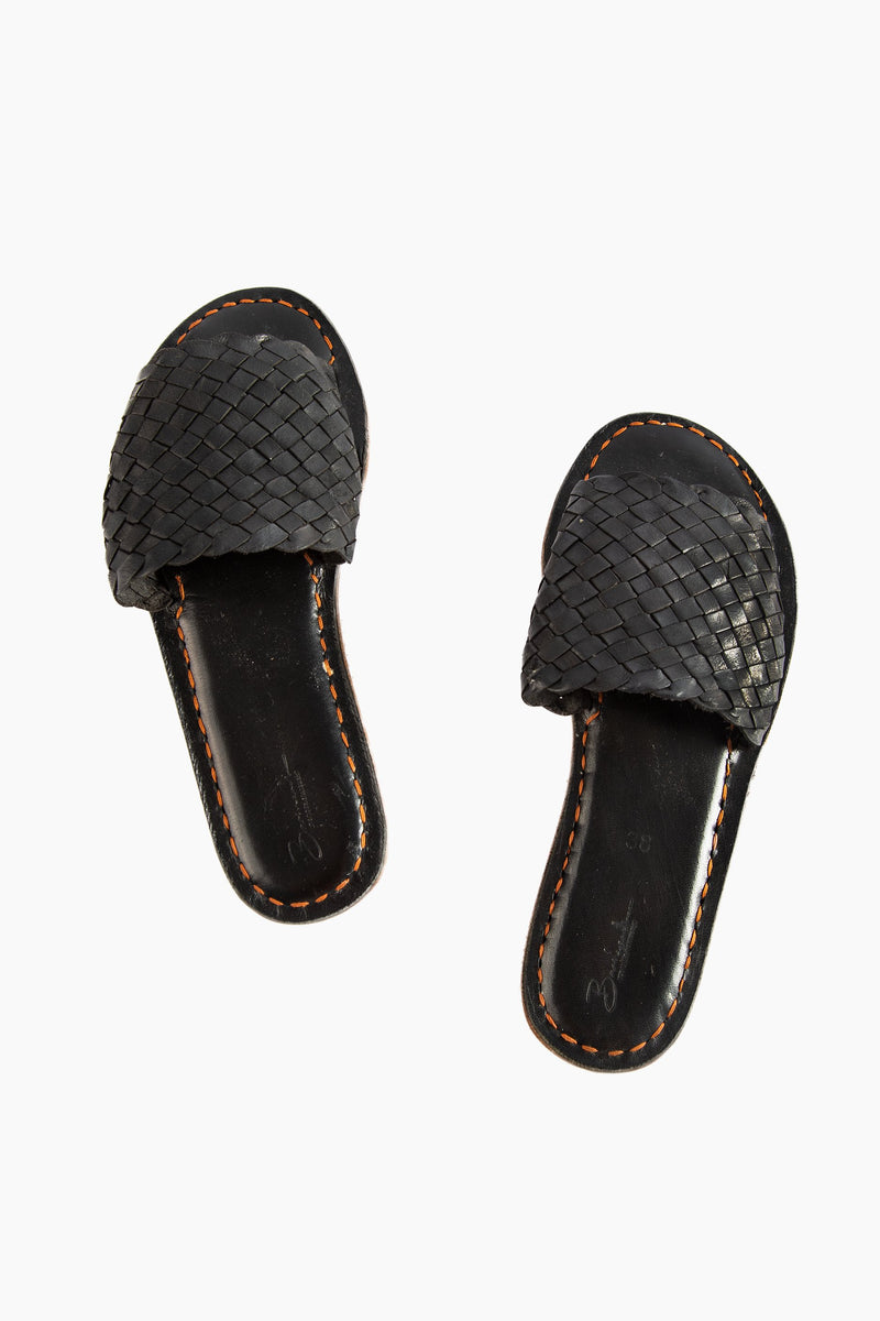 Open Toe Slides - All Black - Our Barehands