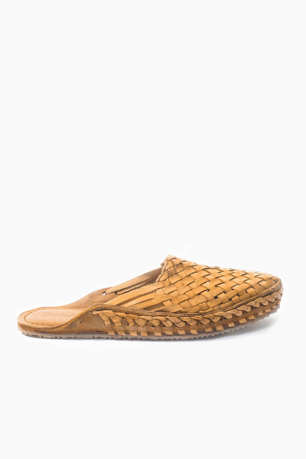 Puspak Woven Slides - Natural Leather - Our Barehands
