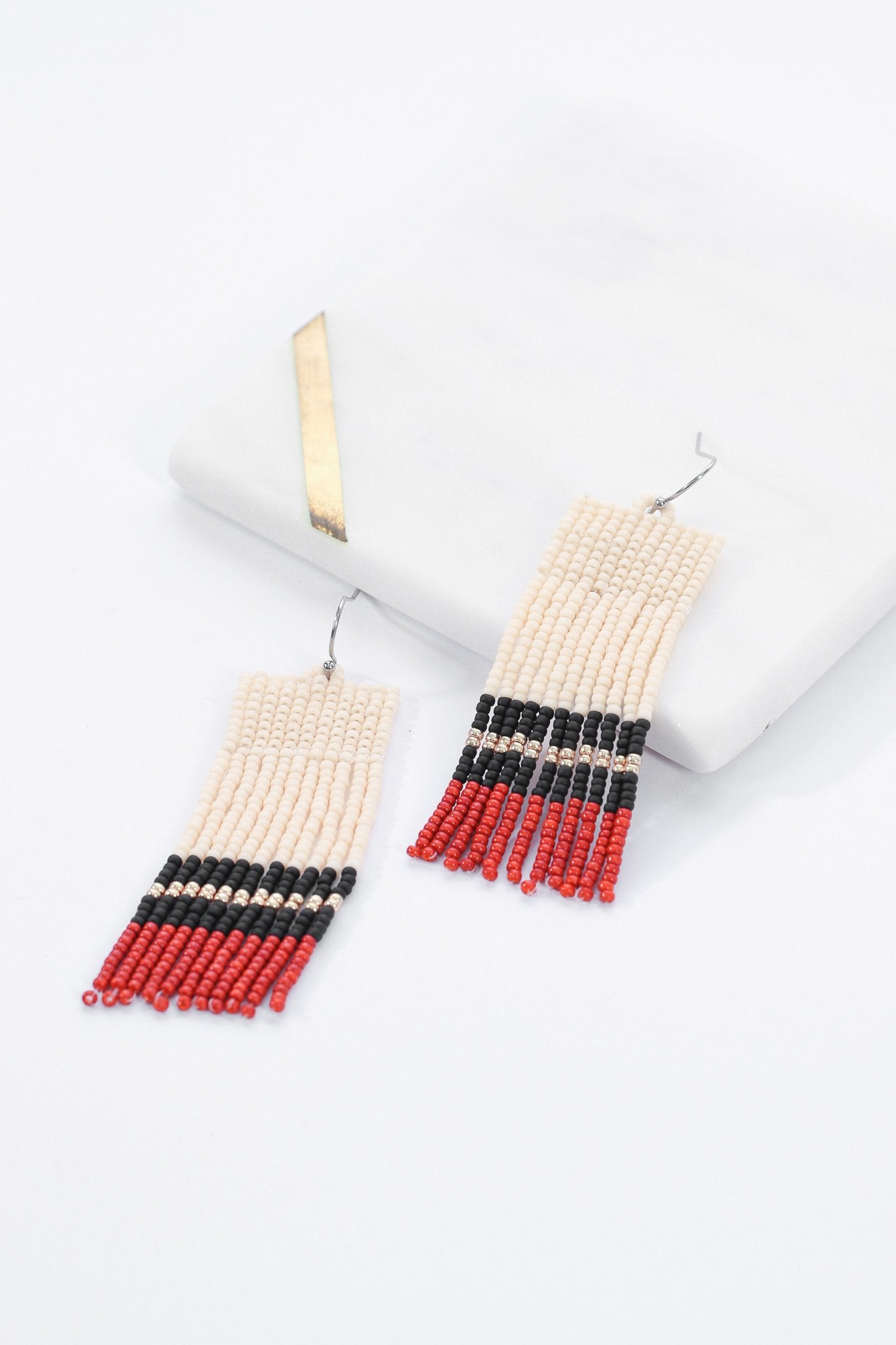 Sarita Beaded Earrings - Terracotta Frills - Our Barehands