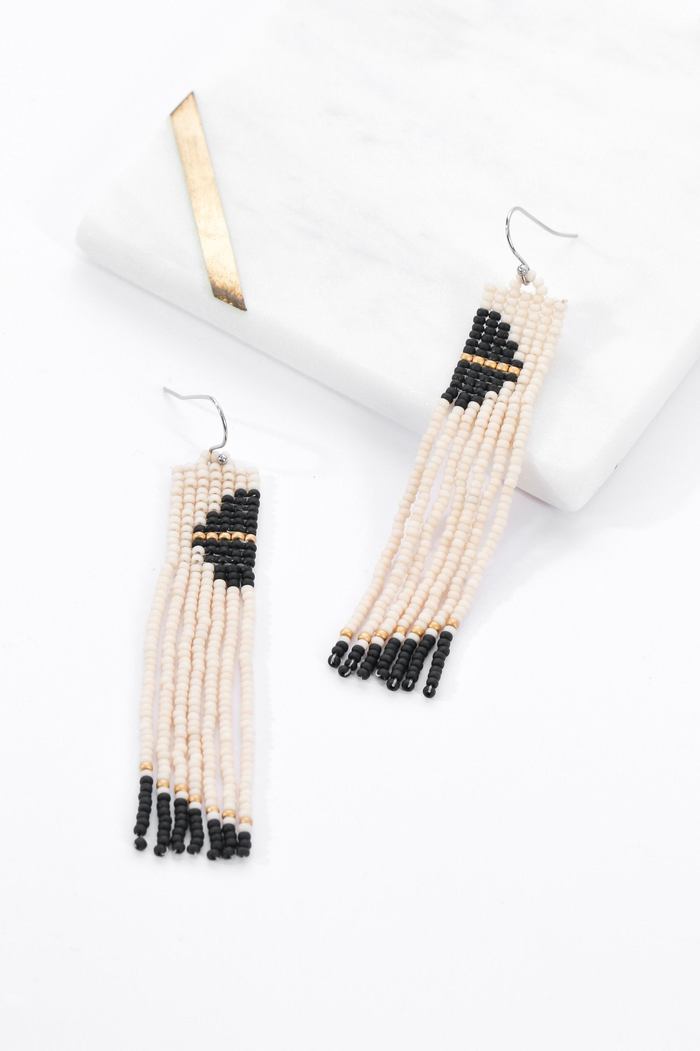Aarika Beaded Earrings - Night - Our Barehands