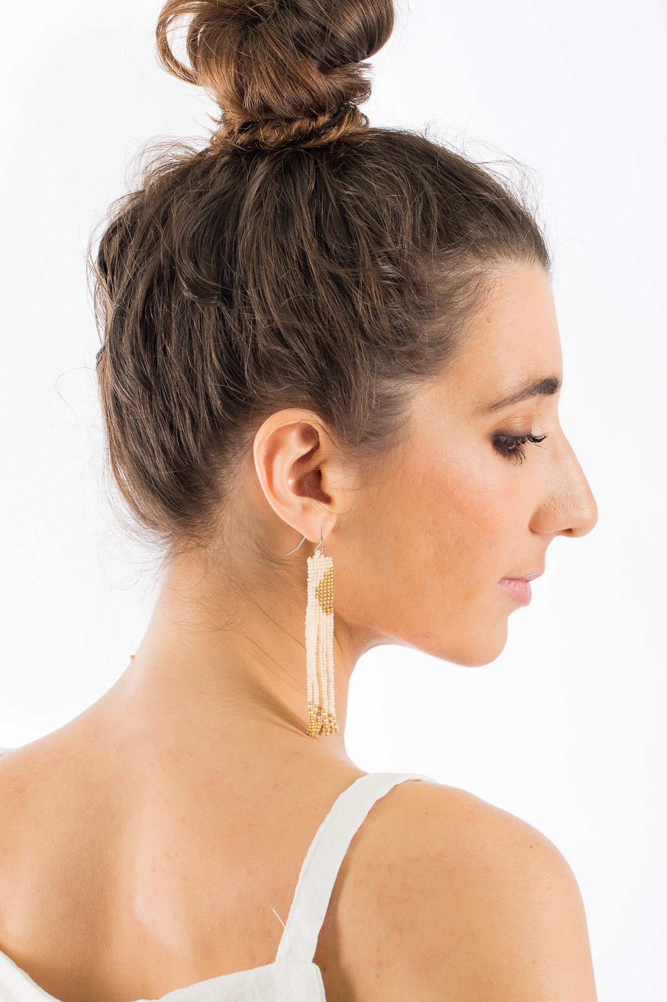 Aarika Beaded Earrings - Gold Plated - Our Barehands