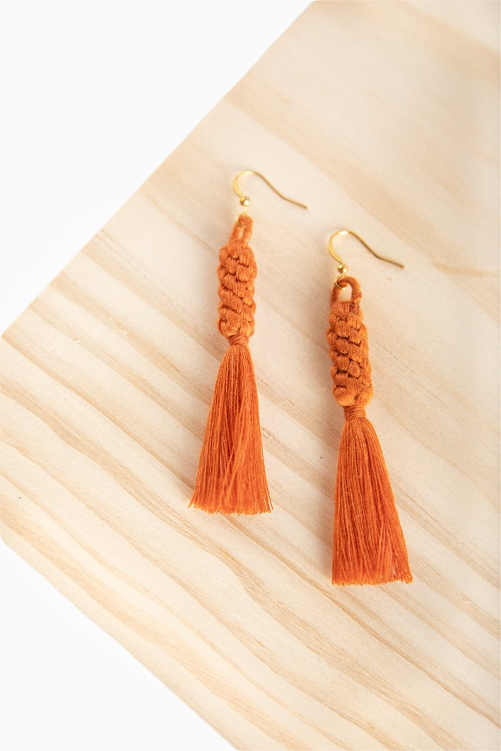 Shan Braid Earrings - Burnt Orange - Our Barehands