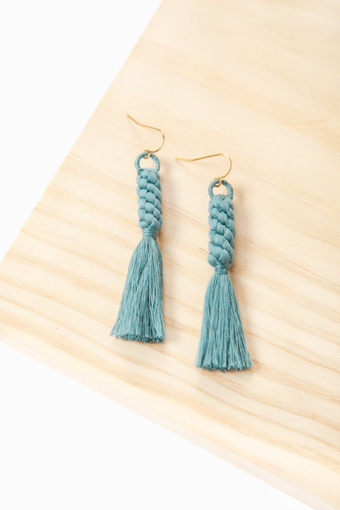 Shan Braid Earrings - Dusty Blue - Our Barehands