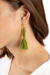 Shan Braid Earrings - Moss Green - Our Barehands