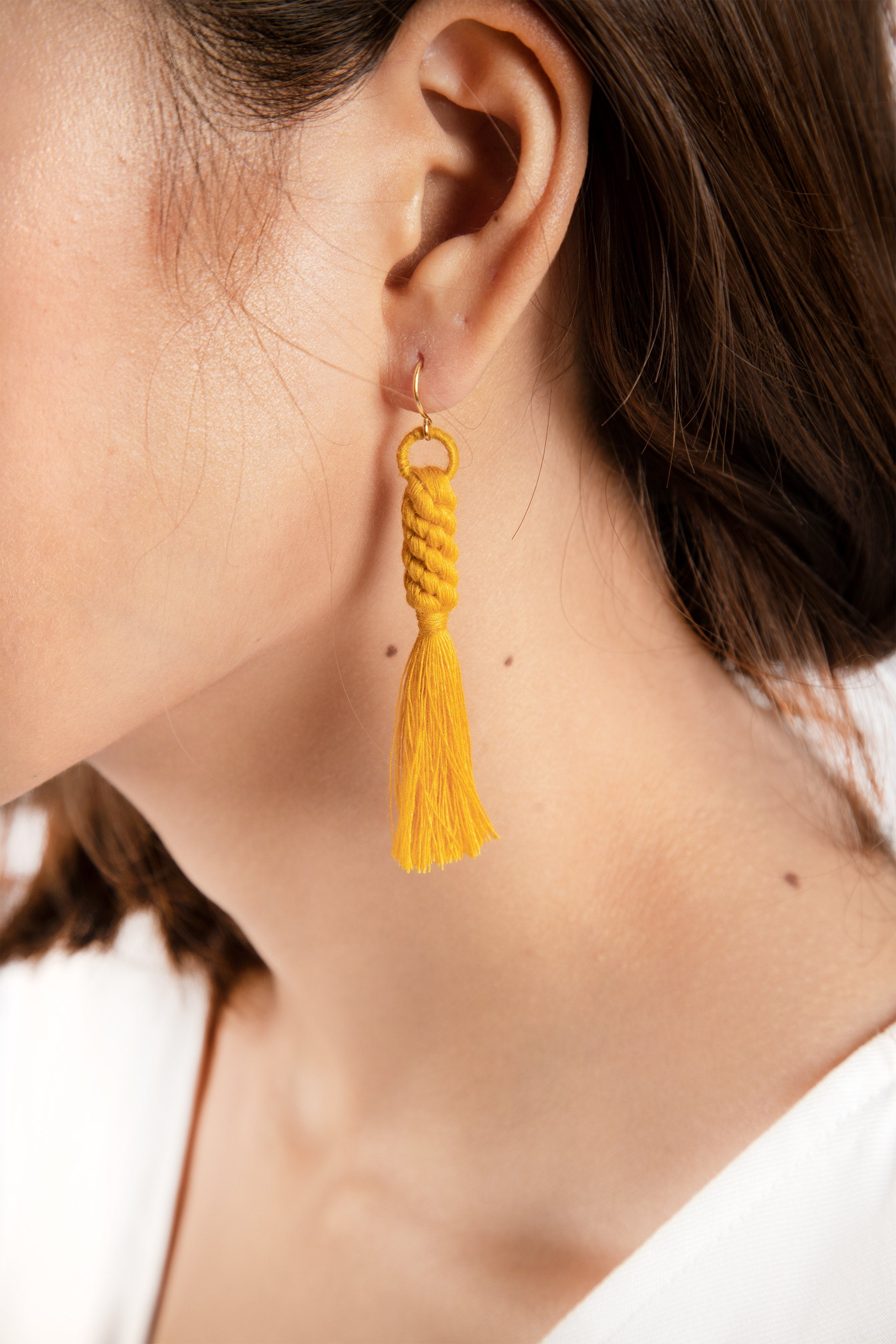 Shan Braid Earrings - Mustard - Our Barehands