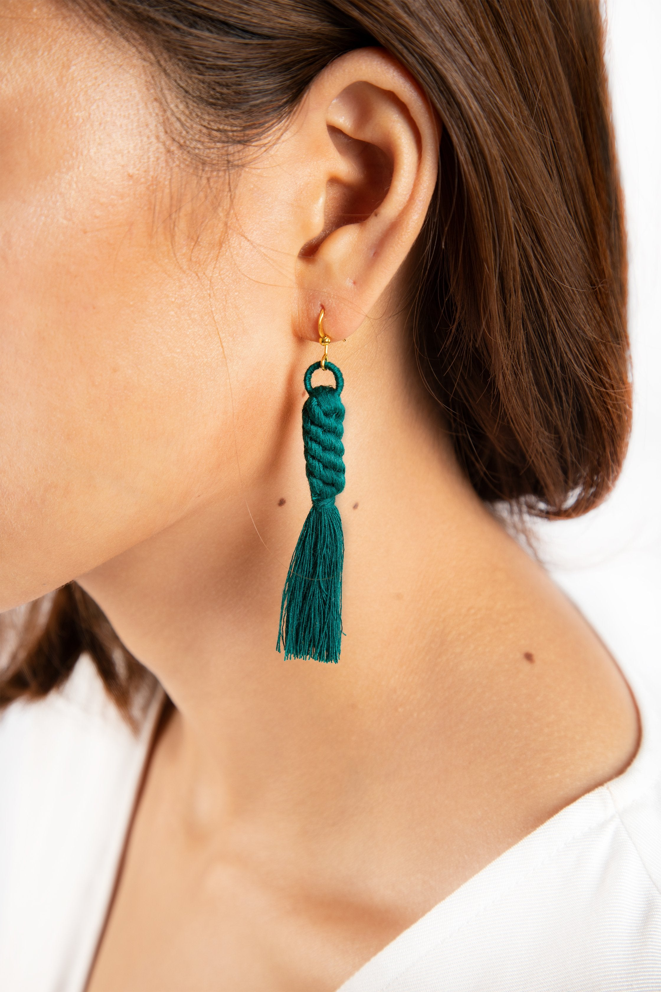 Shan Braid Earrings - Peacock - Our Barehands
