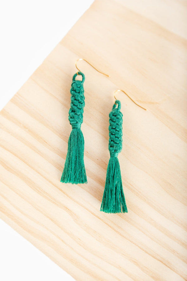 Shan Braid Earrings - Turquoise - Our Barehands