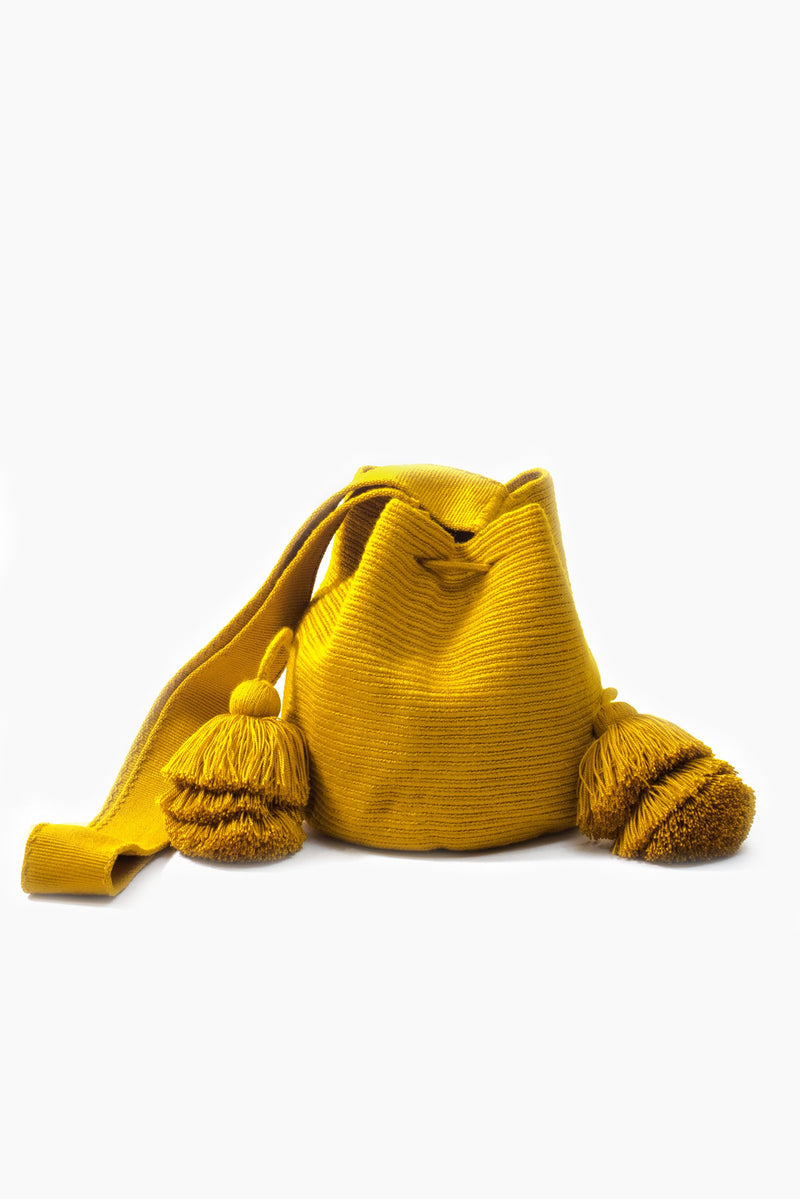 Wayuu Bucket Sling - Mustard - Our Barehands