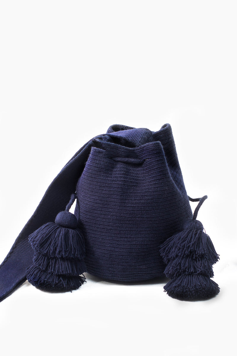Wayuu Bucket Sling - Navy - Our Barehands