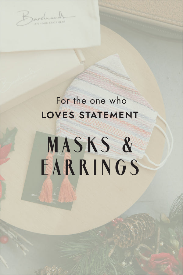 Loves Statement Masks & Earrings
