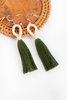Nanda Hoop Tassel Earrings - Mistletoe - Our Barehands