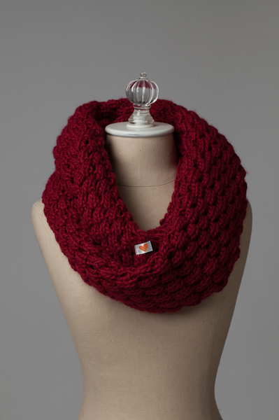 Cranberry Infinity Scarf