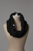 Dark Navy Circle Scarf