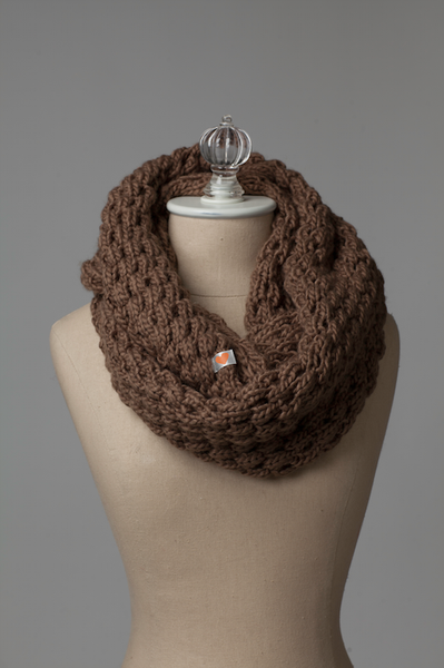 Toffee Infinity Scarf