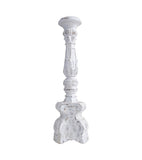 Voult | Tall Bohemian White Wash Wooden Pillar Candle Holder | VOULT.COM.AU
